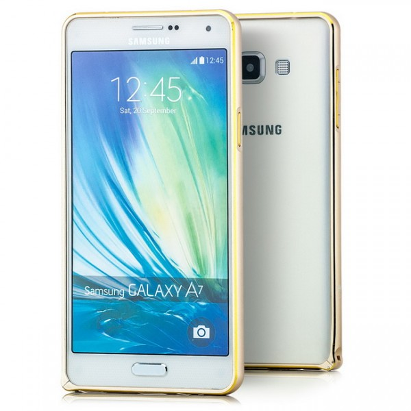 Ultra Slim Aluminium Bumper für Samsung Galaxy A7 Gold