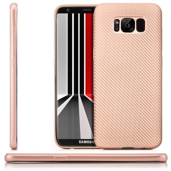 Silikon Metallic Back Cover für Samsung Galaxy S8 Plus - Rosa