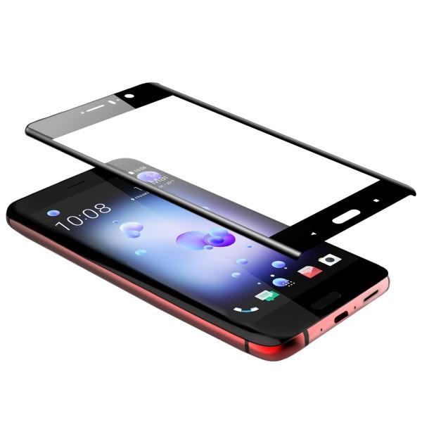 Curved Displayschutzglas für HTC U11 - Schwarz