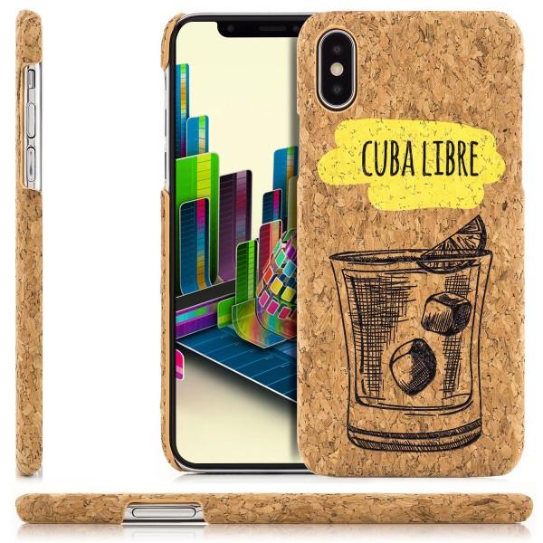 Kork Motiv Back Cover für Apple iPhone X - Cuba Libre
