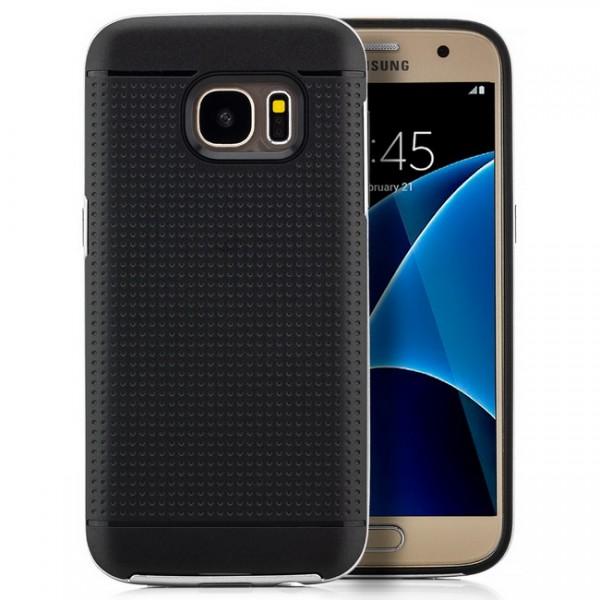 Silikon Case für Samsung Galaxy S7 Schwarz-Grau