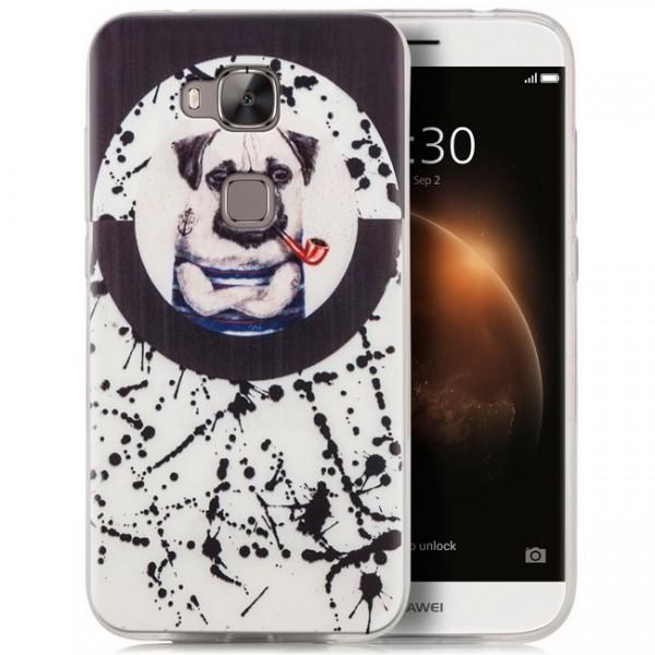Silikon Motiv Case für Huawei G8 / GX8 - Hund mit Pfeife