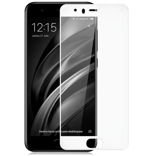 Full Cover Displayschutzglas für Xiaomi Mi 6 - Weiß