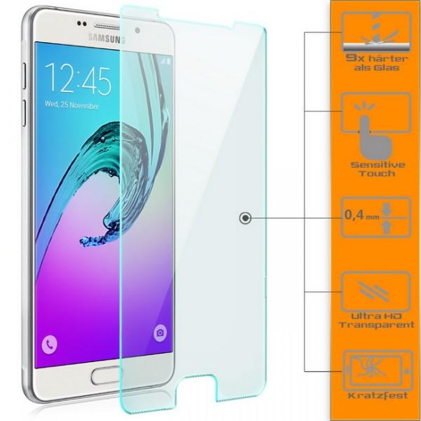 2x Displayschutzglas für Samsung Galaxy A3 (2016)
