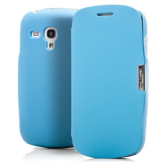 magnetic flip case f r samsung galaxy s3 mini blau. Black Bedroom Furniture Sets. Home Design Ideas