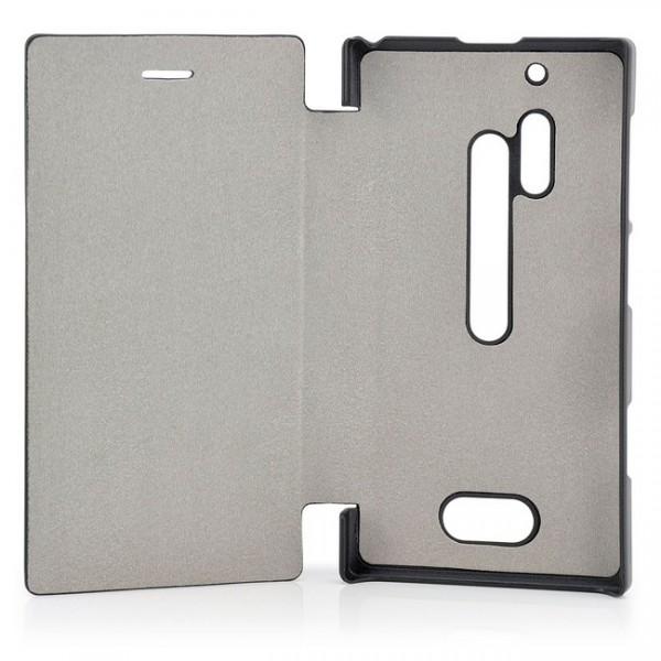 Business Flip Tasche für Nokia Lumia 928 Schwarz