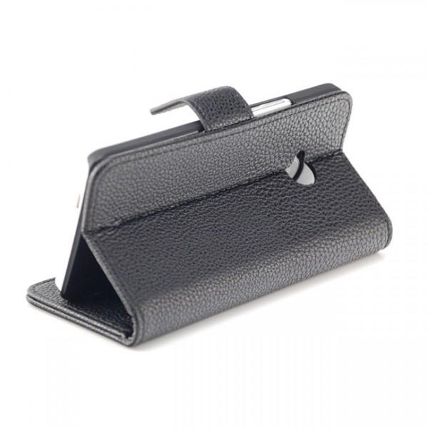 Schutzhülle mit Magnetverschluss für HTC One M7 Schwarz