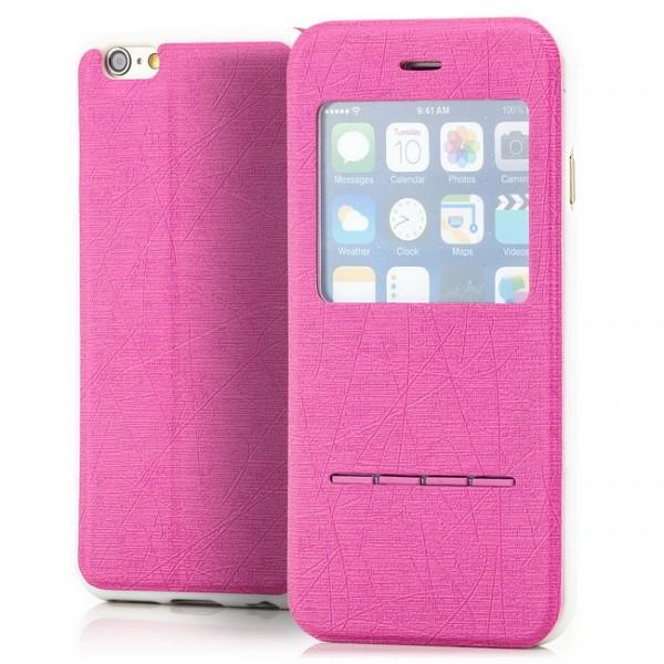 Cross Flip View Case für Apple iPhone 6 & 6S (4,7) Pink -MF-