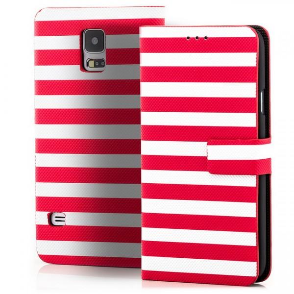 Slim Striped Case für Samsung Galaxy S5 Rot-Weiß