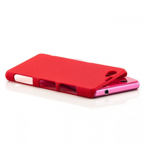 Hard Cover für Sony Xperia Z1 Compact Rot