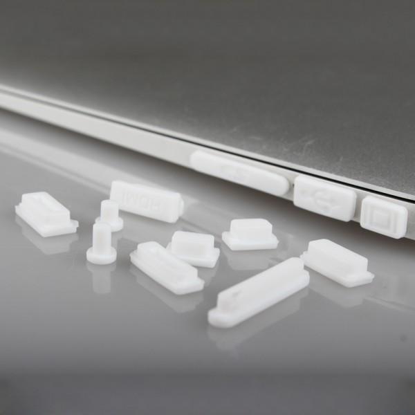 Silikon Abdeckung 12-teilig für MacBook Air / Pro Retina - Weiß