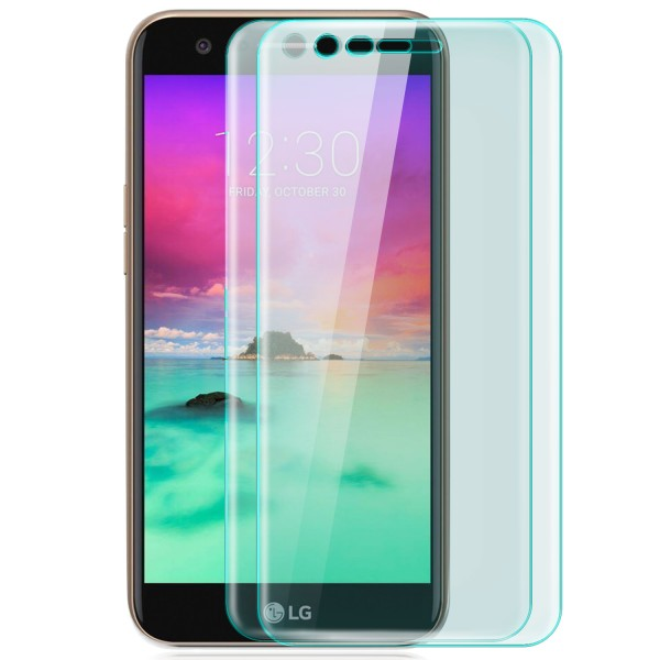 2x Curved Displayschutzglas für LG K10 (2017) - Transparent