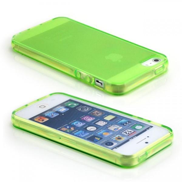 Silikon Case für Apple iPhone 5 & 5S Grün