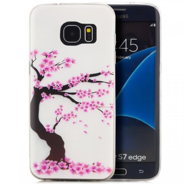 Silikon Motiv Case 2 für Samsung Galaxy S7 edge - Sakura
