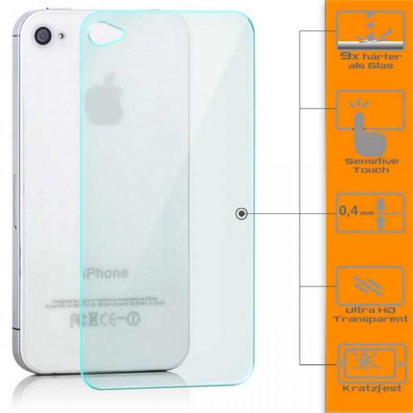 Panzerglas für Apple iPhone 4 / 4S Rückseite