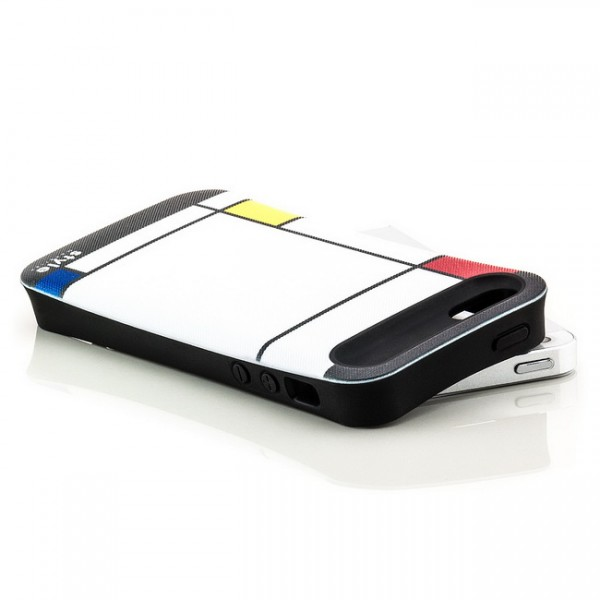 Mondrian Style Back Cover für Apple iPhone 5 & 5S Abstrakt Weiß