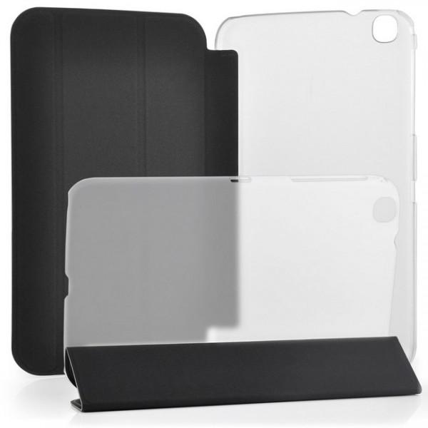 TPU Schutzhülle für Samsung Galaxy Tab 3 8.0 Transparent-Schwarz