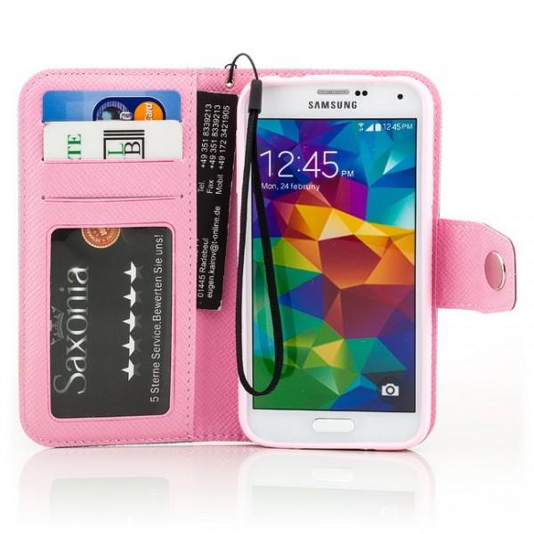 Dual Colours Tasche für Samsung Galaxy S5 Blau