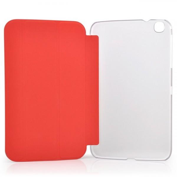 TPU Schutzhülle für Samsung Galaxy Tab 3 8.0 Transparent-Rot