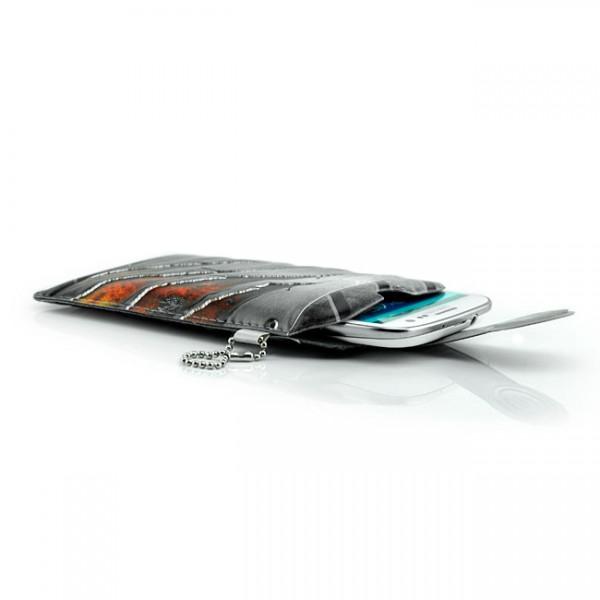 Universelle Handytasche für Handys / Smartphones Grau