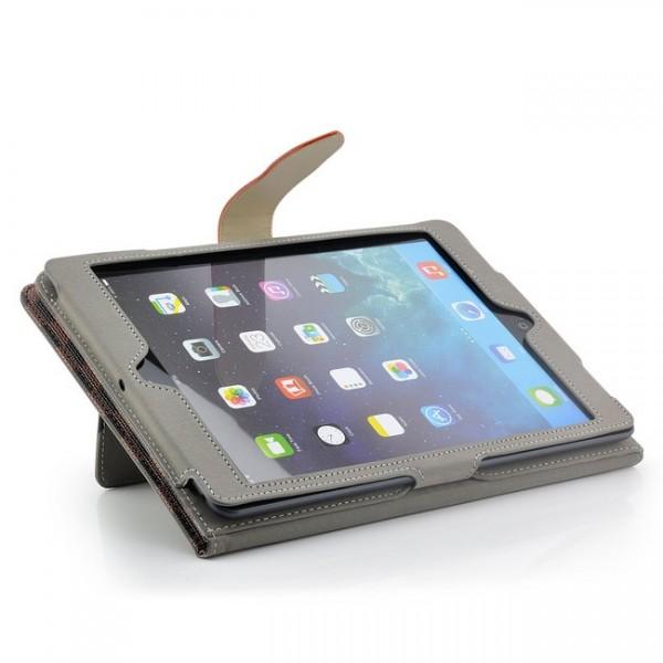 Grid Tablet Tasche für Apple iPad Air Schwarz-Braun