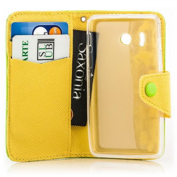 Dual Colours Tasche für Huawei Ascend Y300 Grün-Gelb
