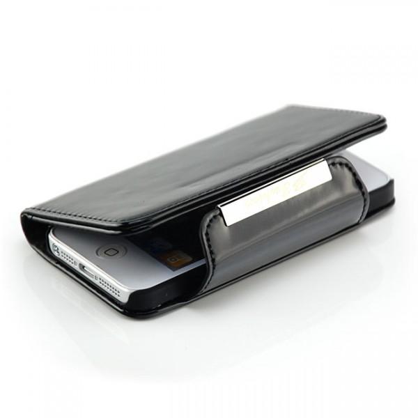 Deluxe Visiten Tasche für Apple iPhone 5 & 5S Schwarz