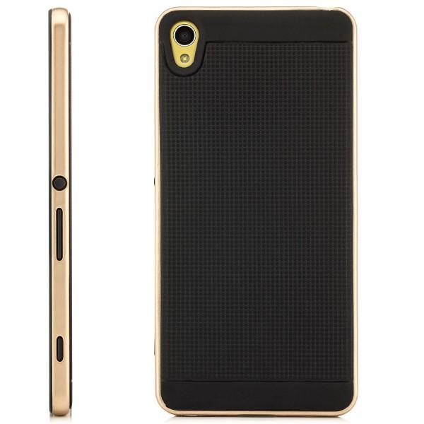 AR-Silikon Soft Case für Sony Xperia XA - Schwarz-Gold