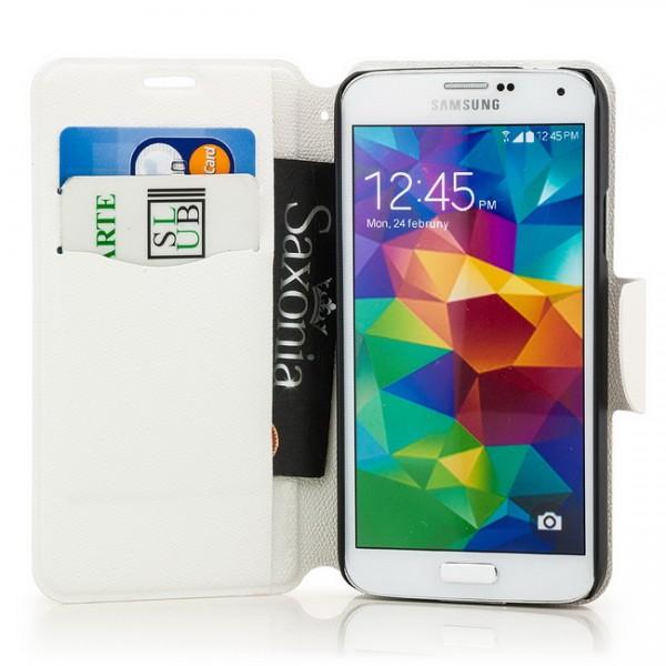 Two Colours Tasche für Samsung Galaxy S5 Schwarz-Weiß