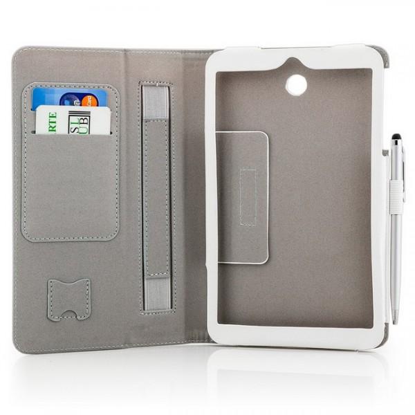 Tablet Tasche für Asus Memo Pad 8 ME180A Weiß + Stift