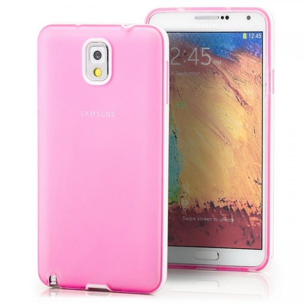 Silikon Back Cover für Samsung Galaxy Note 3 Rosa