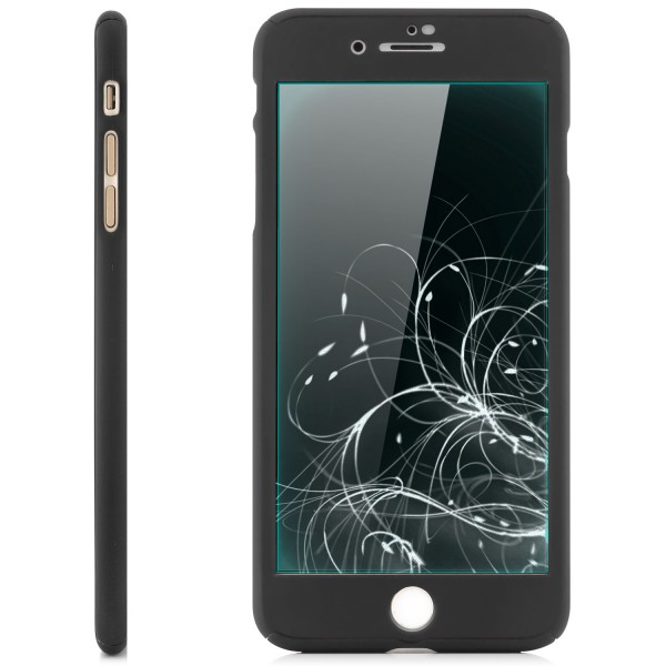 360° Protect Case für Apple iPhone 8 / 7 Plus - Schwarz