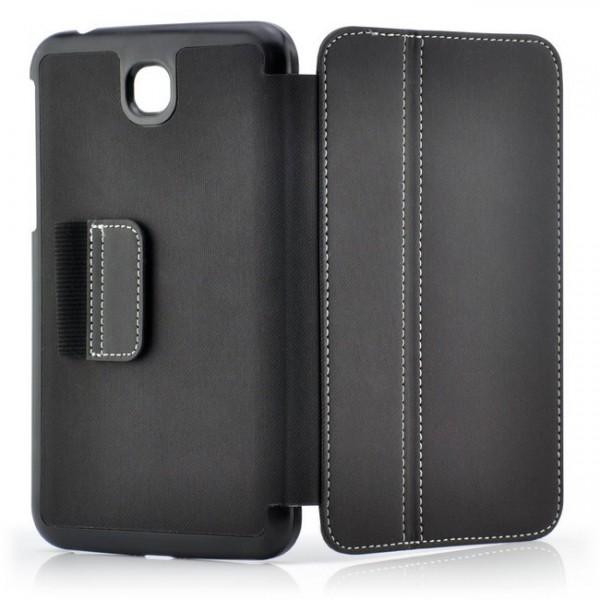 Stoff-Muster Tasche für Samsung Galaxy Tab 3 7.0 Schwarz