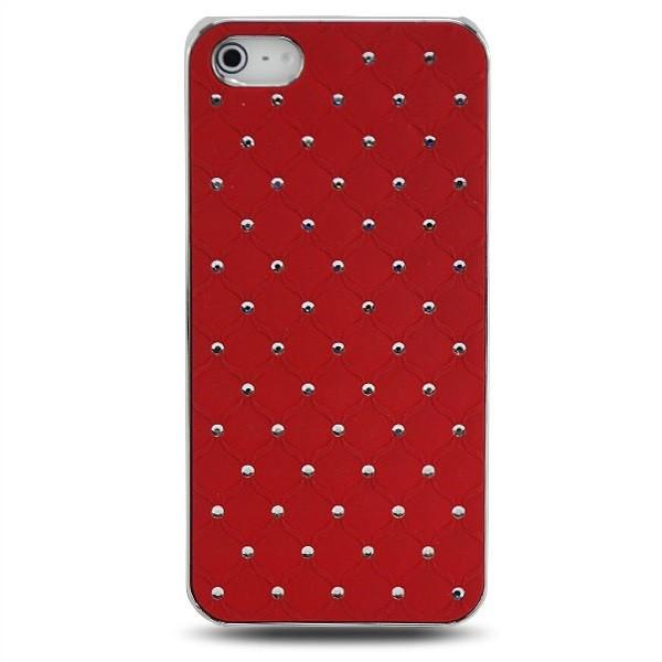 Diamanten-Netz Case für Apple iPhone 5 5S SE Rot