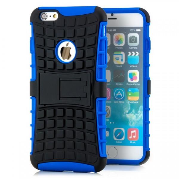 Outdoor Case für Apple iPhone 6 Plus Schwarz-Blau -MF-