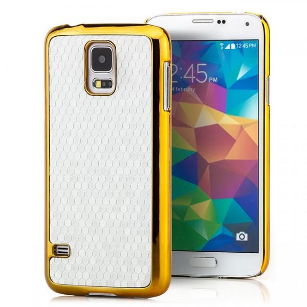 Cells Back Cover für Samsung Galaxy S5 Silber