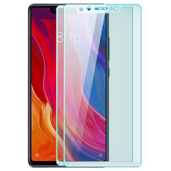 2x Full Cover Displayschutzglas für Xiaomi Mi 8 SE - Weiß
