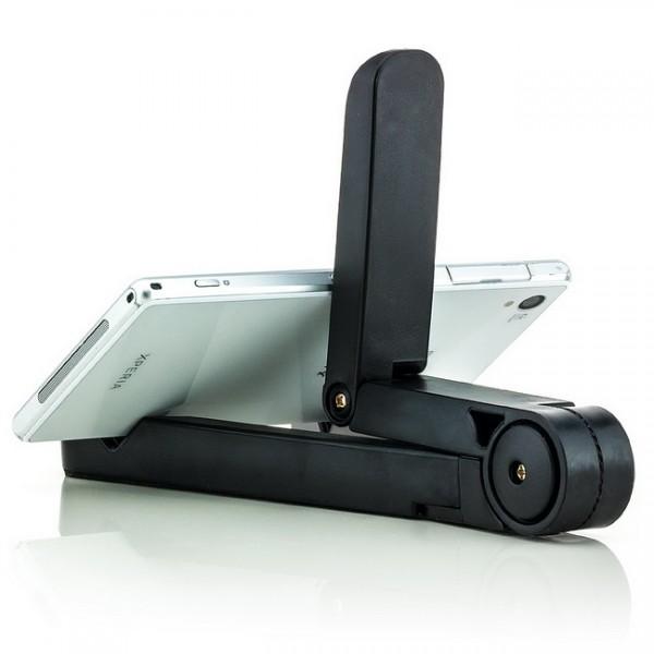 Stabile Halterung für Tablets, Smartphones und E-Book-Reader Schwarz