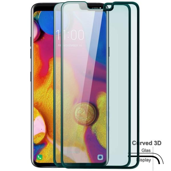 2x Curved Displayschutzglas für LG V40 - Schwarz