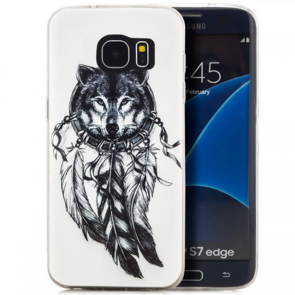 Silikon Motiv Case 2 für Samsung Galaxy S7 edge - Wolf