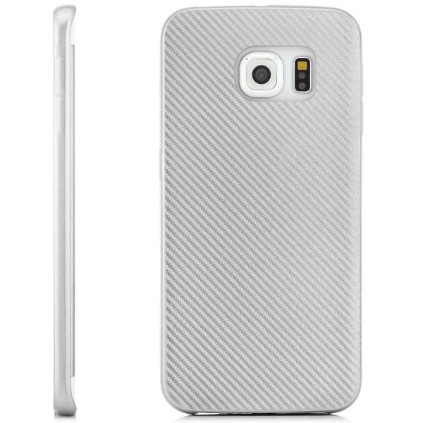 Silikon Metallic Carbon Schutzhülle für Samsung Galaxy S6 Edge - Gold