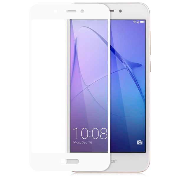 Full Cover Displayschutzglas für Huawei Honor 6A - Weiß