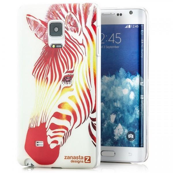 Zanasta Designs Back Cover für Samsung Galaxy Note Edge - Red Zebra