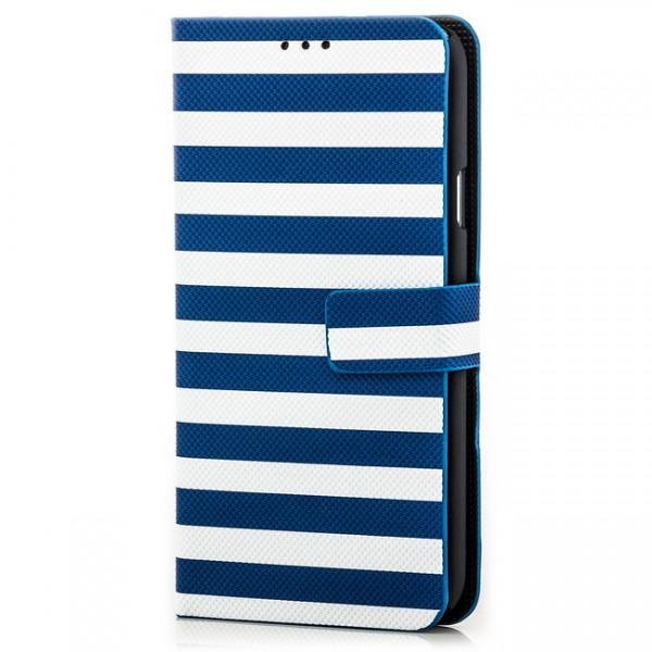 Slim Striped Case für Samsung Galaxy S5 Blau-Weiß