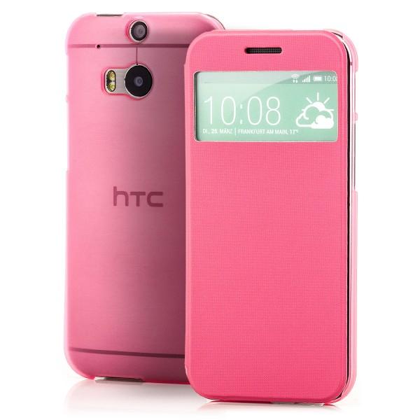TPU Flip Tasche für HTC One M8 Rosa