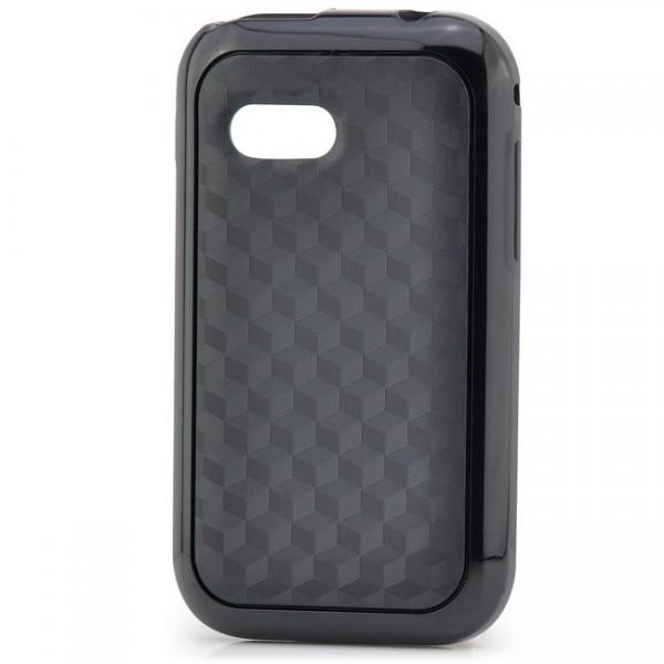 TPU Back Cover für Samsung S5360 Galaxy Y Schwarz