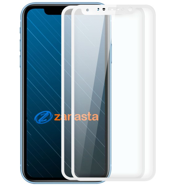 """2x Full Cover Displayschutzglas für Apple iPhone XS (5,8"""") - Weiß"""