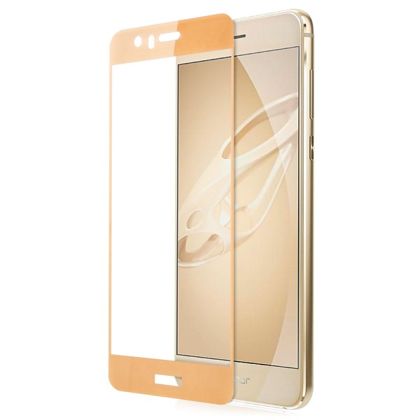 Full Cover Displayschutzglas für Huawei Honor 8 - Gold