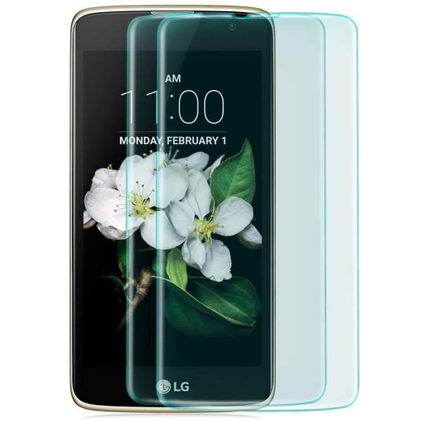 2x Curved Displayschutzglas für LG K7 (2016) - Transparent