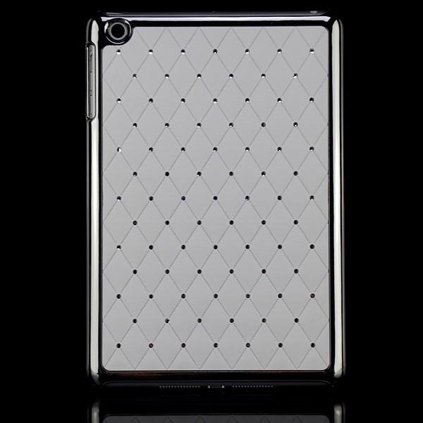 Diamanten Back Cover für Apple iPad Mini Weiß